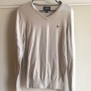 American Eagle 🦅 tan v neck sweater medium